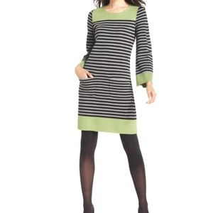 Eliza J Rolled Seam Striped Sheath Sweater Dress S